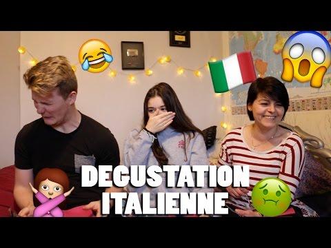 DÉGUSTATION ITALIENNE AVEC LA MÈRE DE SOFIA !