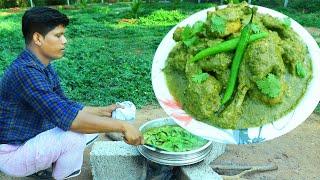 GREEN CHICKEN  Hyderabadi Green Chicken Recipe  Yummy Masala Chicken