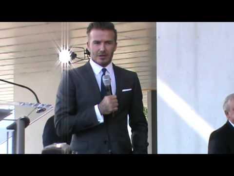 David Beckham brings MLS soccer to Miami (Full announcement) Part 2