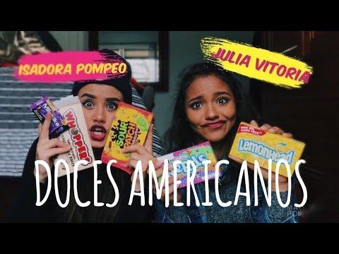EXPERIMENTANDO DOCES AMERICANOS ft. Júlia Vitória