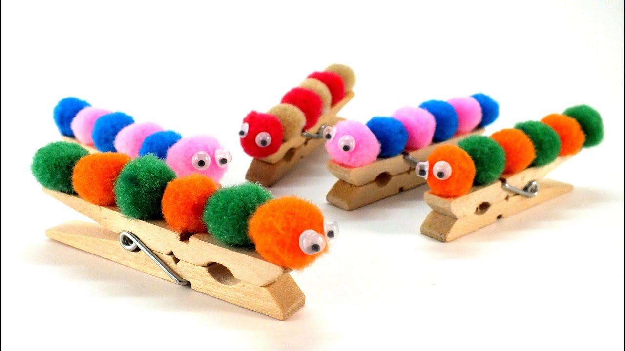 Csipesz hernyó figura - Kreatív ötletek gyerekeknek 3. - YouTube