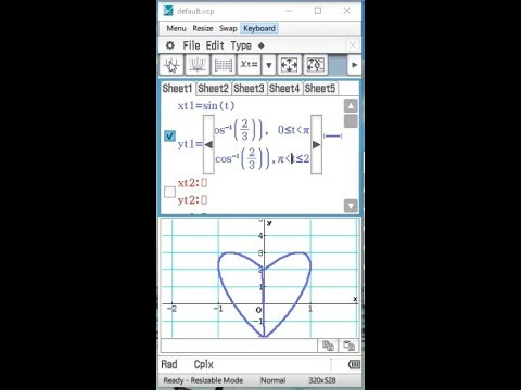 how to make a love heart on the casio classpad fx