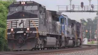 65+ locomotives, RR-Xings, train Horns /  65+ amerikanische Diesel-Loks (Highlights Part 3)