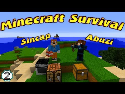 SİNCAP VE ABUZİ MİNECRAFT SURVİVAL ADASINDA