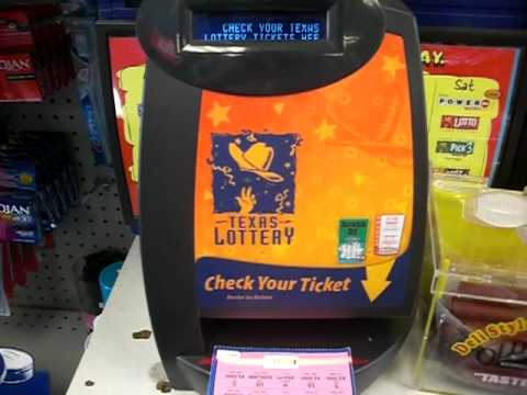 Using the Texas Lottery 'Check a ticket' machine to scan a winning  scratch-off ticket