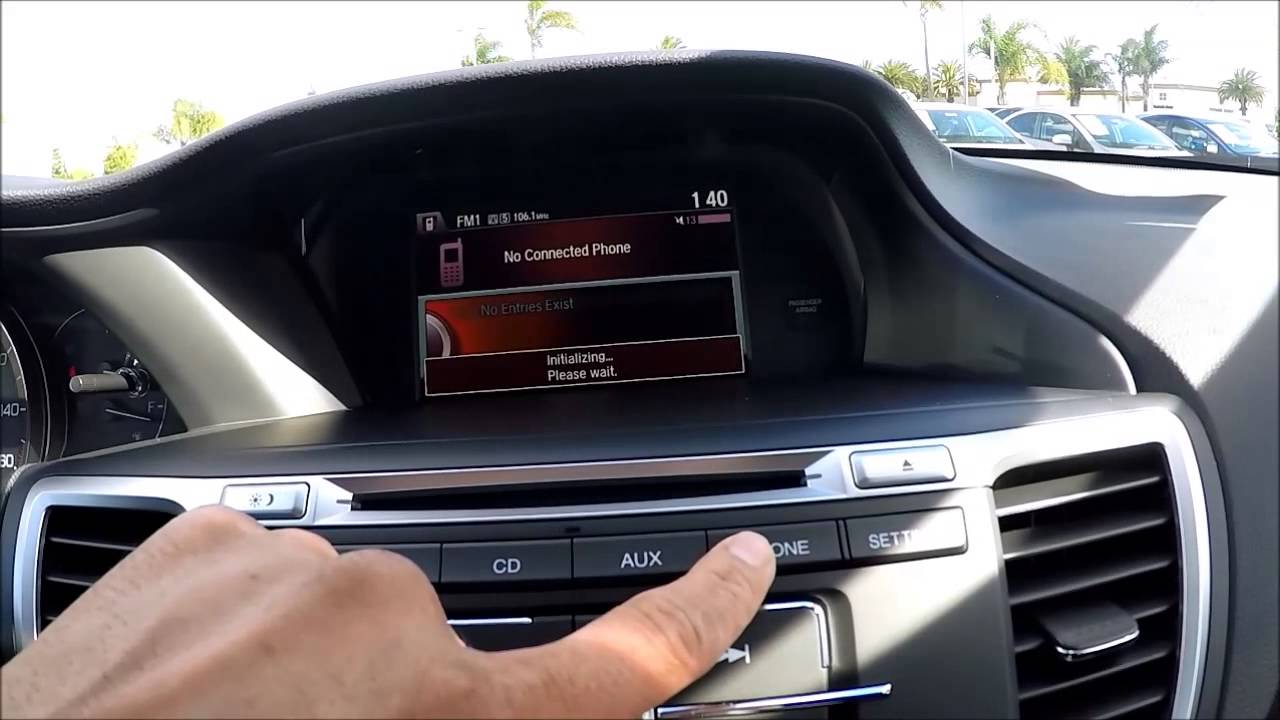 Honda Accord Sport >> How to pair your phone to 2015 Honda Accord LX or Sport ...
