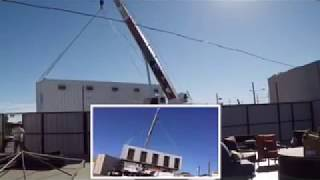 Moving A Shipping Container With A Crane