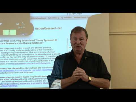 Jack Whitehead Pestalozzi conference 2010 on Living Educational Theories - part 1