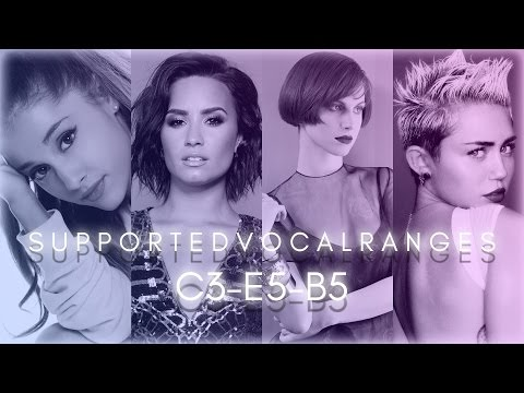 Supported Vocal Range Compilation | C3-E5-B5 | Part 1