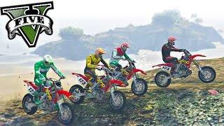 GTA V ONLINE | Vida Real - Moto Vlog | Motocross na montanha de Honda CRF 450 | EP# 94