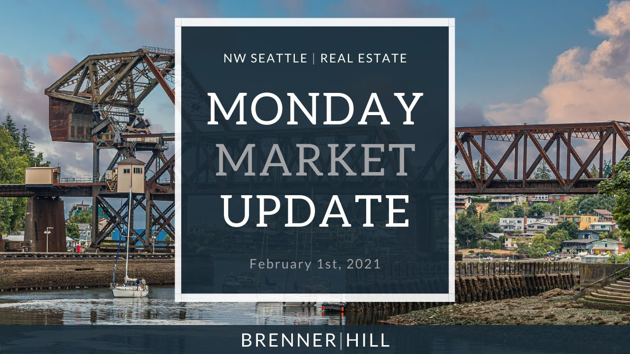 Monday NW Seattle Real Estate Market Update 📅 February 1st, 2021