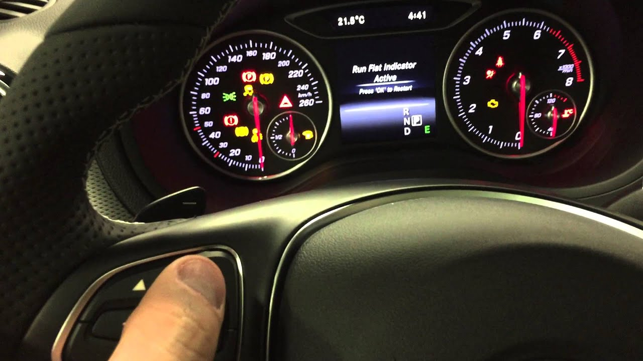 Mercedes benz resetting run flat indicator 2015 youtube for Mercedes benz c300 tire pressure