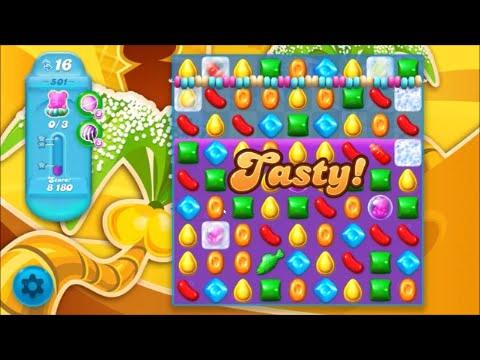Candy crush soda saga level 501 no boosters youtube - 1600 candy crush ...