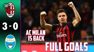 AC Milan vs Spal 3-0 Full goals 16/01/2020