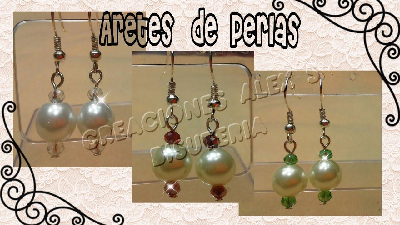 9229efb87 Bisuteria aretes de perlas modelo 1  ...........................................((27)) - YouTube