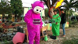 RAMAI UNBOXING COSTUME TELETUBBIES TINKY WINKY DIPSY LALA PO UPIN IPIN BADUT LUCU LILY ALAN WALKER