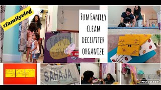 #Familyvlog | Clean With Us |  Old Memories | Declutter and Organize | DIY Crafts | #vlog #SmVlogs