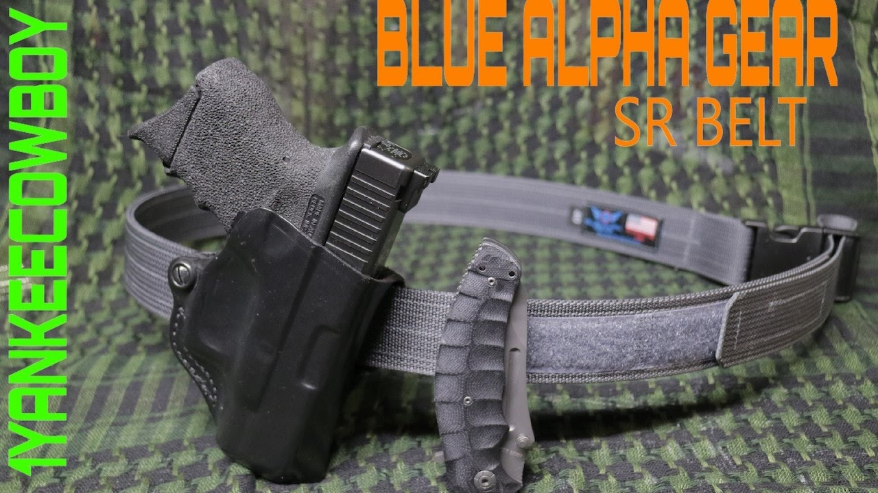 4f6385788791e Blue Alpha Gear SR EDC BELT - YouTube