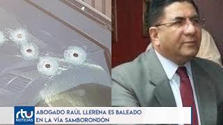 Raúl Llerena es abaleado en la vía Samborondón