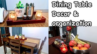 Dining Table Decor And Organization Ideas / Dining Table Organization / How To Clean & Organize