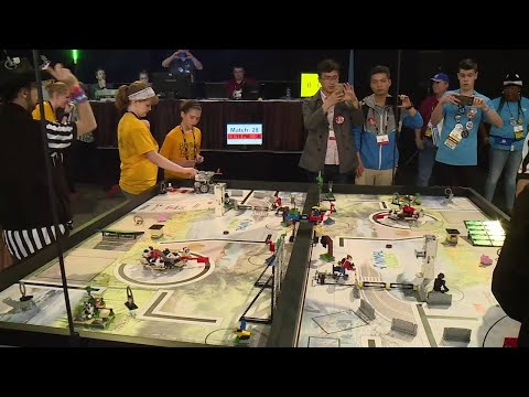 Robotics competition at the GRB convention center