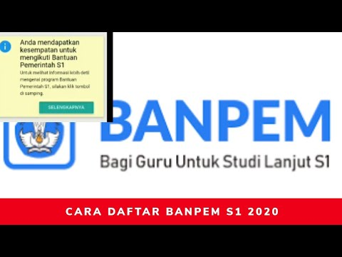 Cara Daftar Banpem S1 Kemendikbud 2020