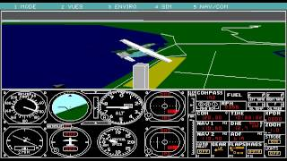 Microsoft Flight Simulator 4.0 (DOS) 1989 PC Game