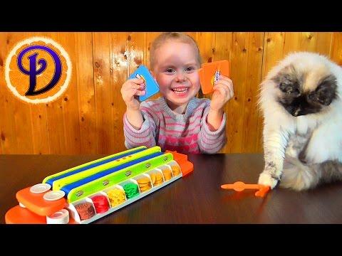 БУРГЕР МАНИЯ ЧЕЛЛЕНДЖ Игра Кто быстрей соберёт мини бургеры Привет подписчику Видео для детей