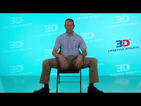 Sitting Piriformis Dynamic Stretch to Cross Out Sciatica, Back and Knee Pain by 3D Lifestyle Athlete