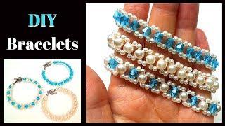 beginner beading project. 3 bracelets -1 pattern (2  needles pattern , 1 needle pattern)