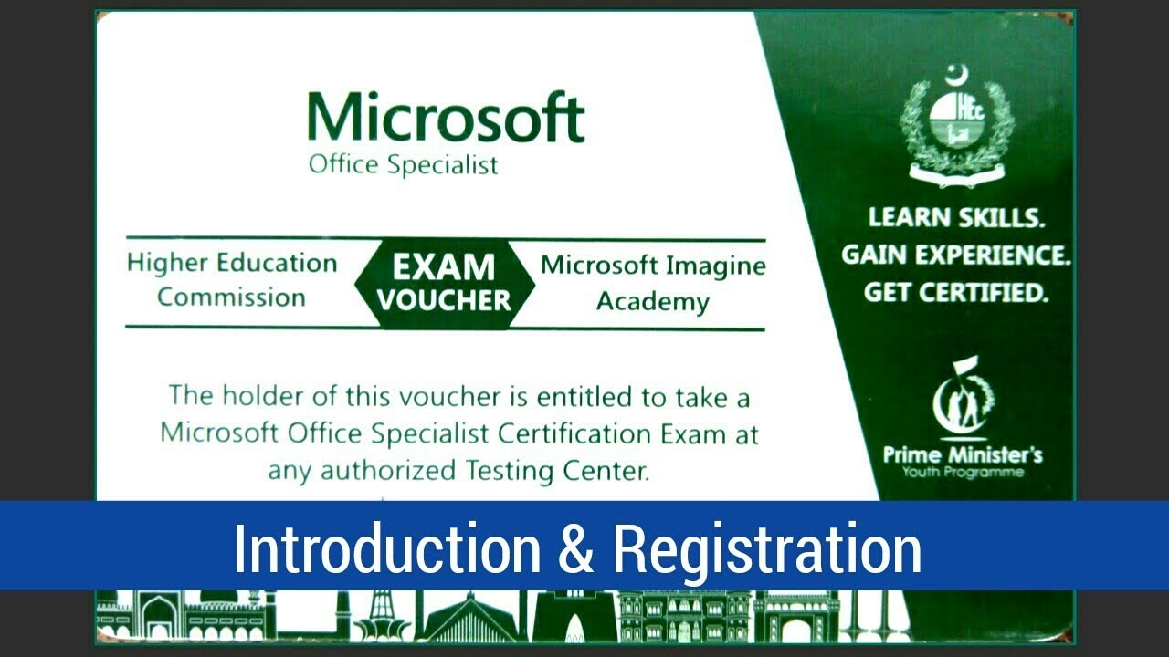 how to registrations mos microsoft office specialist voucher by