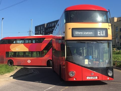 London Bus Route Visual - EL1 Ilford Station to Barking Riverside