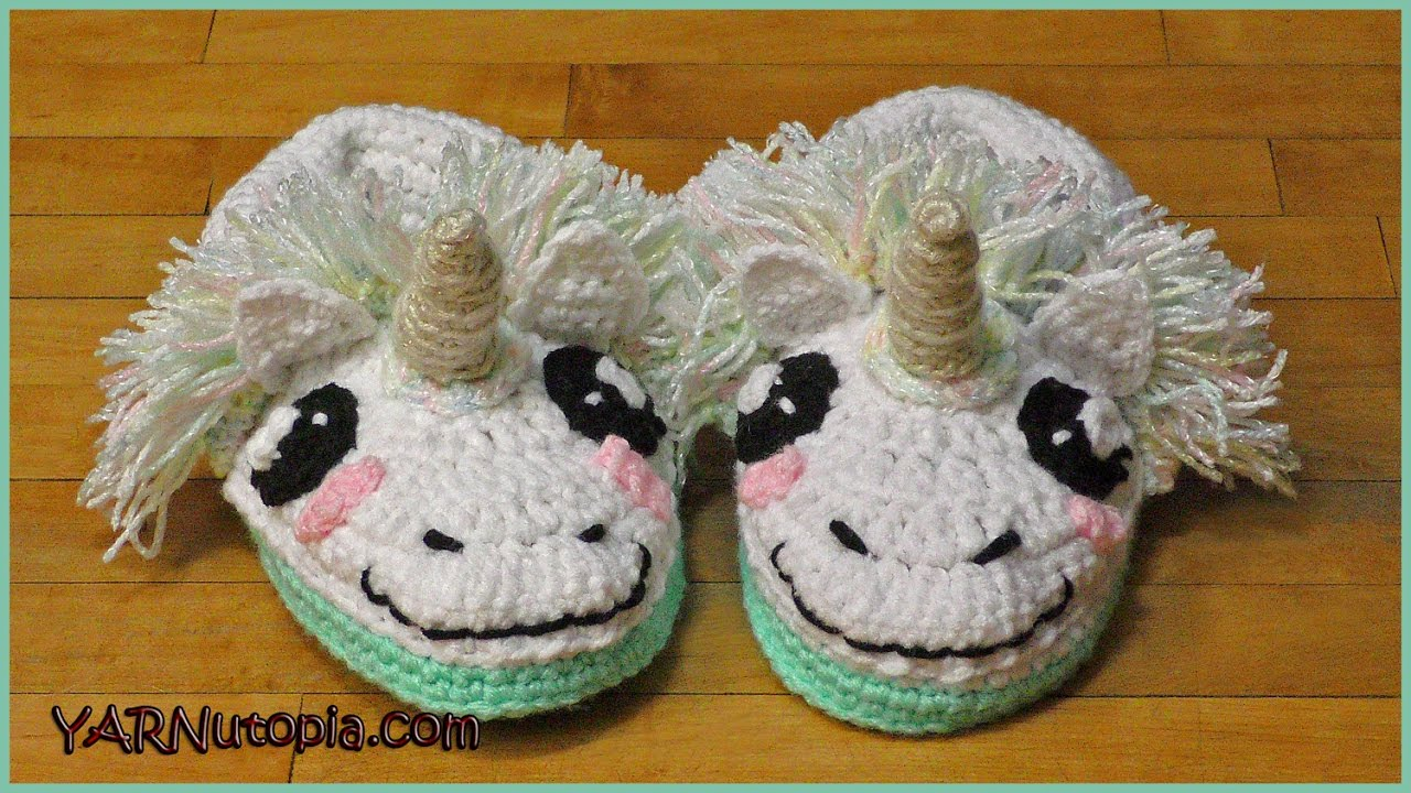 How To Crochet Unicorn Slippers