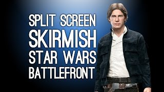 Star Wars Battlefront Co-Op Skirmish Mode Gameplay - Split Screen Walker Assault