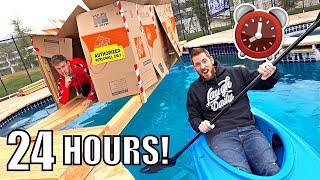 Download 24 HOUR OVERNIGHT POOL FORT! Mp3 and Videos