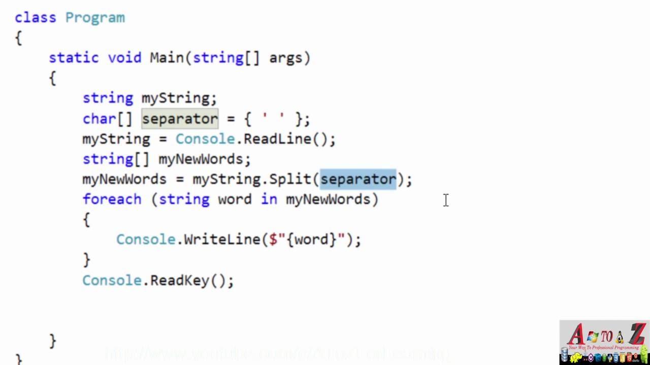 62 Split Function With String Type دالة تحويل النصوص الى كلمات