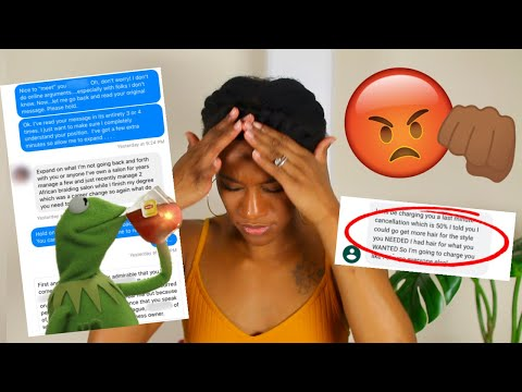 i was THREATENED & ROBBED by my HAIRSTYLIST! Natural Hair Horror Story!