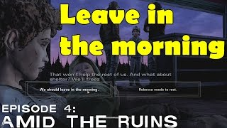 The Walking Dead We Should Leave in the Morning Season 2 Episode 4  Amid the ruins