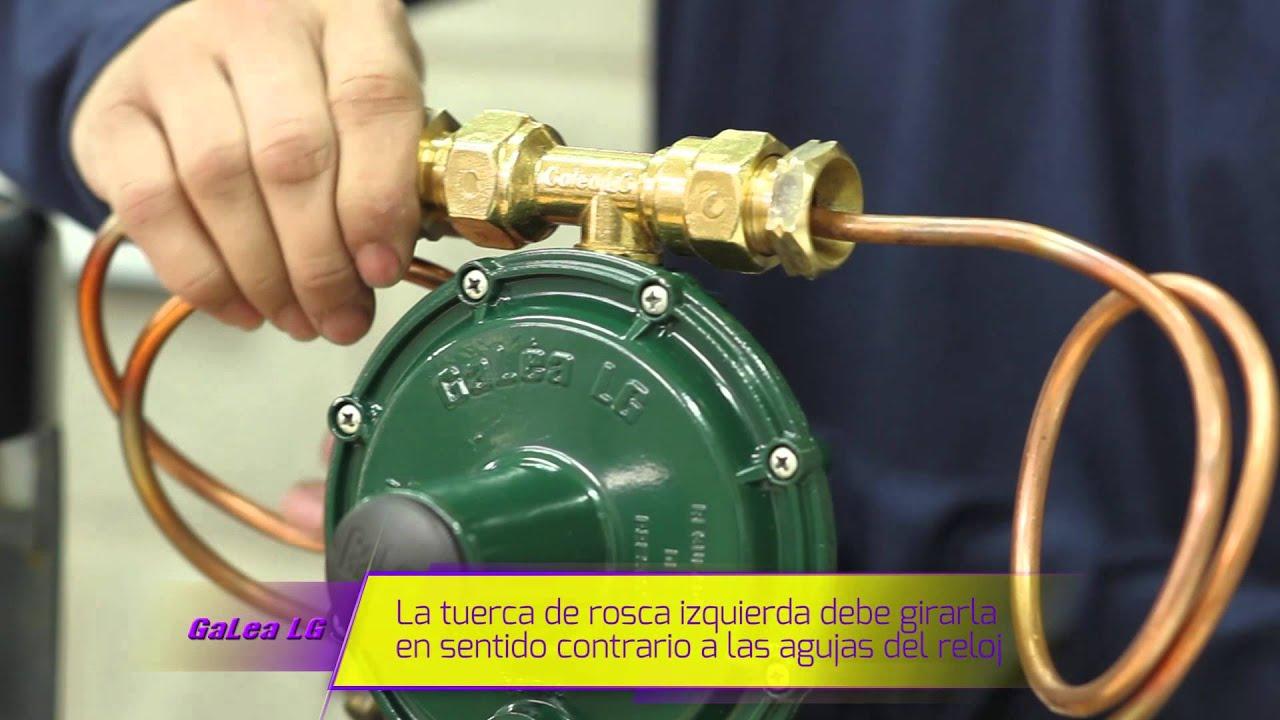 Valvula para gas de 45 kilos