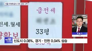 서울 아파트값 상승률 6주 연속 '하락'…관망세 지속
