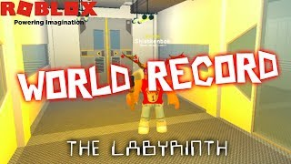 WORLD RECORD?!? Escaping 25 Times in 2.5 Hours! | The Labyrinth | Roblox