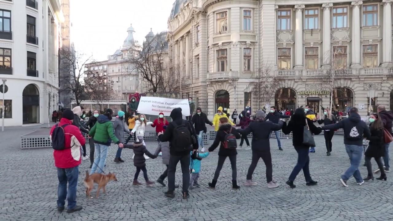 Flashmob Unirea Antipoluare Bucuresti 2020