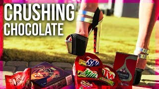 CRUSHING Valentines Day Chocolate in High Heels