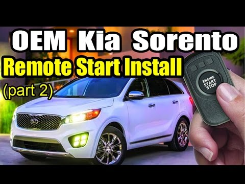 2016 Kia Sorento OEM Remote Start Install (part 2)