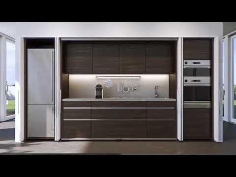 Cucine Con Ante Scorrevoli A Scomparsa.Secoti Il Progetto E Casa Cucina A Scomparsa 2 Youtube