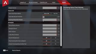 How to Enable Disable Voice Chat Apex Legends