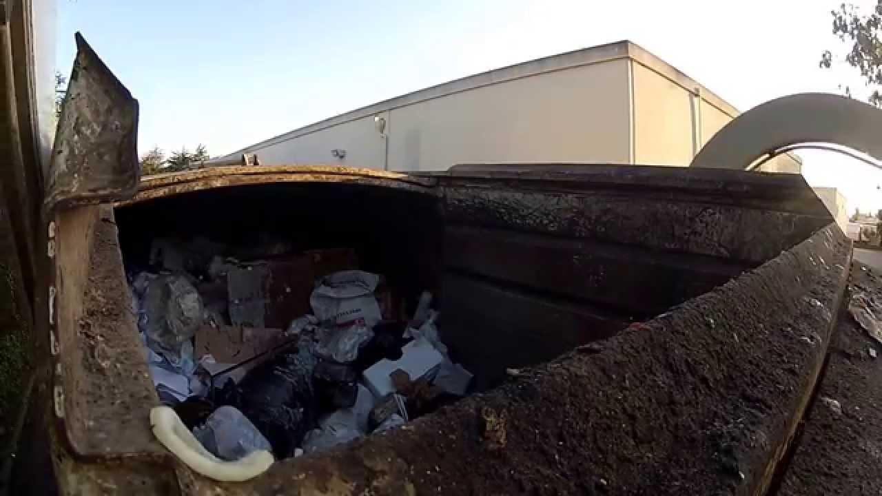 Garbage Truck Front Loader Hopper Cam 3 24 14 Youtube