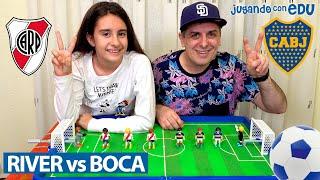 FINAL DE LA COPA LIBERTADORES River Plate vs Boca Juniors VERSIÓN PLAYMOBIL desde Madrid