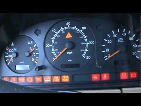 1999 mercedes benz ml320 dash cold start youtube for Mercedes benz dashboard lights not working