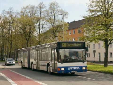 [Sound] Bus MAN NG 312 (MO-JA 1000) der Fa Wettels Touristik GmbH, Rheinberg (Kreis Wesel)